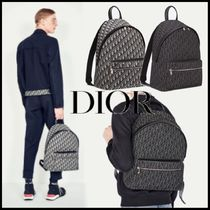 DIOR★DIOR OBLIQUE  バックパック 黒/グレー