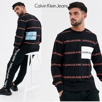 Calvin Klein Jeansカルバンall over institutional スウエット