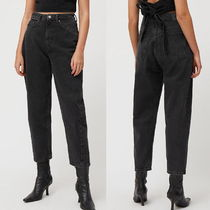 """WEEKDAY"" Meg High Mom Jeans Black"
