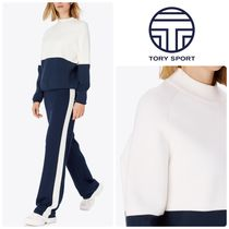 [ TORY SPORT ] VISCOSE COLOR-BLOCK SWEATER