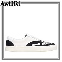 【AMIRI】AMIRI Skel Toe Sneakers In White Suede And Leather