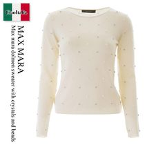 Max mara dolmen sweater with crystals and beads