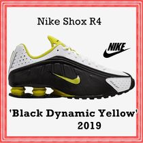 Nike Shox R4 'Black Dynamic Yellow 2019 SS 19