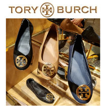 TORY BURCH バレシューズ MINNIE TRAVEL BALLET FLAT LEATHER