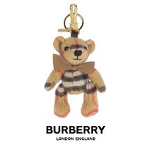★BURBERRY★人気の贈り物★19FW CHECK THOMAS BEAR KEY HOLDER