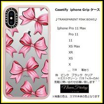 Casetify iphone Gripケース♪TRANSPARENT PINK BOWS♪