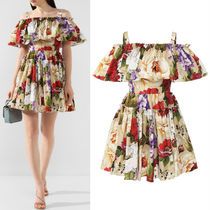 DG2213 FLORAL PRINT COTTON MINI DRESS