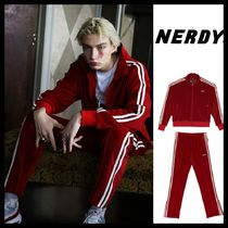【NERDY】Velour Track Top & Pants/セット/Burgundy/19SS/韓国
