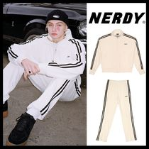 【NERDY】Velour Track Top & Pants/セット/White/19SS/ホワイト