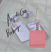 [Burberry]AirPodsケース レザー ピンク