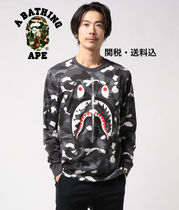 入手困難 A BATHING APE CITY CAMO WGM SHARK L/S TEE