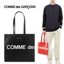 【Comme des Garcons】ロゴプリント レザートートバッグ