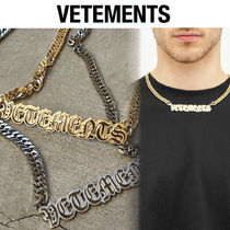 【VETEMENTS】ゴシック ロゴ★チェーン ネックレス Gold Silver