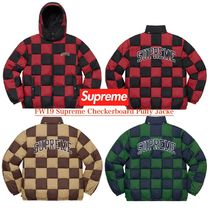 FW19 Supreme Checkerboard Puffy Jacket - パフィ ジャケット