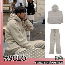 ASCLO★韓国の人気★OVERFIT FLEECE HOODY SET 2色