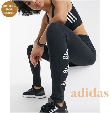 adidas ボトムスその他 送関込◆【adidas】leggings with side logo in black