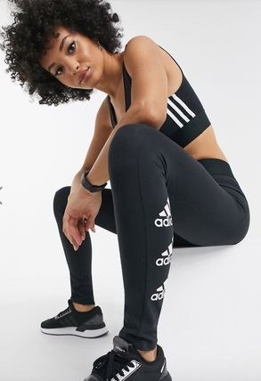 adidas ボトムスその他 送関込◆【adidas】leggings with side logo in black(2)