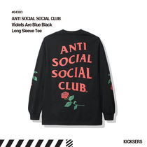 人気話題!ANTI SOCIAL SOCIAL CLUB Violets Blue Black LS Tee