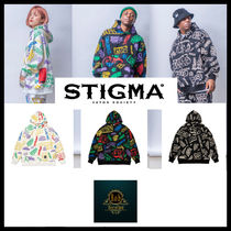 [STIGMA] PAINTING OVERSIZED HEAVY SWEAT HOODIE★日本未入荷★