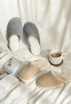 【DECO VIEW】 Cozy knitted fleece living room slippers