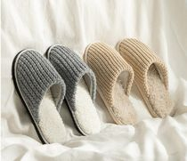 【DECO VIEW】 Check suede living room slippers