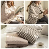 【DECO VIEW】 Windproof padded blanket warm like goose