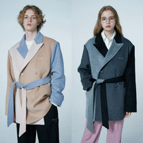 ★WAI KEI★韓国 コート ColorBlock Belted Oversize Coat 全2色