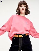 TOMMY HILFIGER オーバーサイズ スウェット TOMMY JEANS PINK