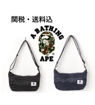 限定 A BATHING APE PADDED NYLON SHOULDER ショルダーバッグ