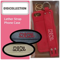 2019AW★【OiOi Collection】LEATHER STRAP PHONE CASE 全3色