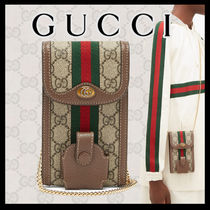 GUCCI★GGスプリーム iPhone & AirPods ケース フォンバッグ