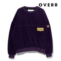 ★OVERR★ESSAY.5 COLOR BLOCKED FLEECE SWEATSHIRTS PURPLE