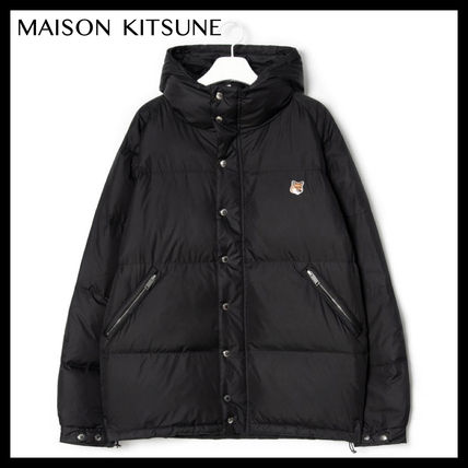 【MAISON KITSUNE】DOWN JACKET FOX HEAD PATCH/Black/19FW
