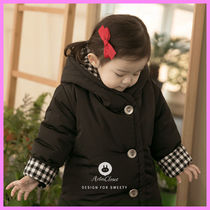 【ArimCloset】bunny style black baby long coat〜ウサギ耳付き