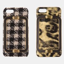 韓国発EENK★iphone7/8case Liney Leopard&Gingham Check