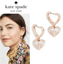 【Kate Spade】ロック ソリッド ストーン ハート ハギー  ピアス