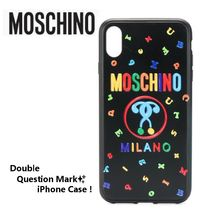 Moschinoモスキーノ★ Double Question Mark iPhoneケース