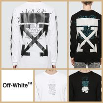 [OFF-WHITE] オフホワイト Dripping Arrows ロンT