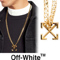 【Off-White】SS20★アロー ペンダント ネックレス Gold 送関込