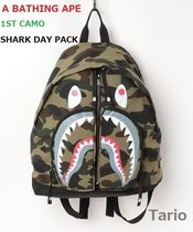 送料込!A BATHING APE /エイプ 1ST CAMO SHARK DAY PACK 緑