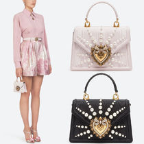 DG2222 SMALL MOIRE DEVOTION BAG WITH PEARL EMBROIDERY