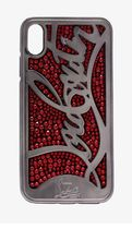 【Christian Louboutin】Red Ricky embellished iPhone X ケース