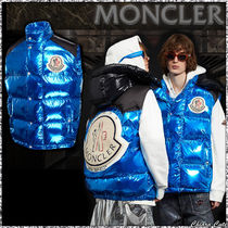 【19AW NEW】MONCLER_men / PALM ANGELS ダウンベスト / ブルー