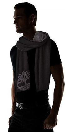 Timberland ニットキャップ・ビーニー Timberland ロゴ入り メンズ セット Double Layer Scarf Cuffed(4)