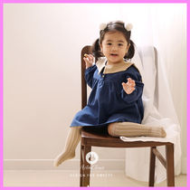 【ArimCloset】beige sailor romantic blue cotton baby dress