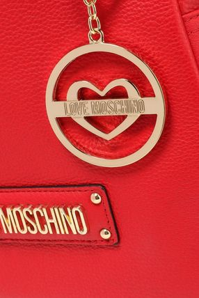 Love Moschino バックパック・リュック ★ラブモスキーノ★Logo-embellished textured-leather backpack(4)