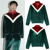 CLUT STUDIO(クラットスタジオ) トップスその他 ★CLUT STUDIO★韓国 0 3 velvet training zip-up top - GREEN