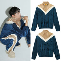 CLUT STUDIO(クラットスタジオ) トップスその他 ★CLUT STUDIO★韓国 0 3 velvet training zip-up top - NAVY