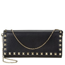 VALENTINO ROCKSTUD FLAP WITH CHAIN	PW2P0551	BOL	0NO	NERO+ORO