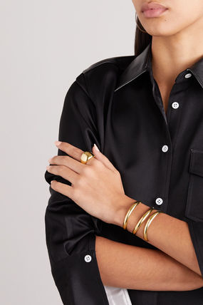 JENNIFER FISHER 指輪・リング プレゼント◆New Cylinder gold-plated ring(3)